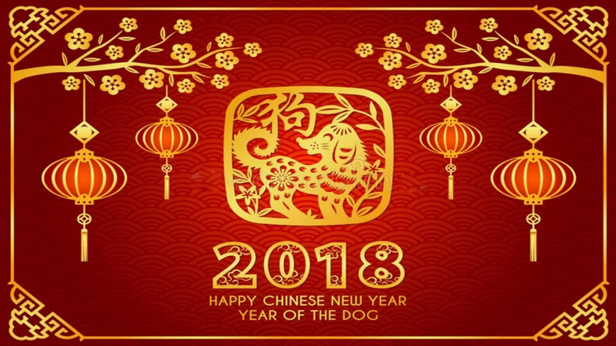 happy Chinese lunar new year of  dog