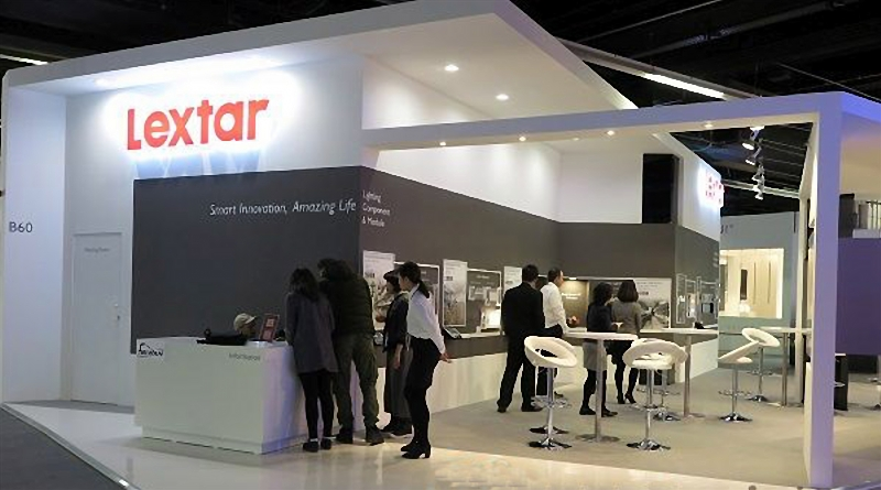 Lextar showcase its new developments on the trade show