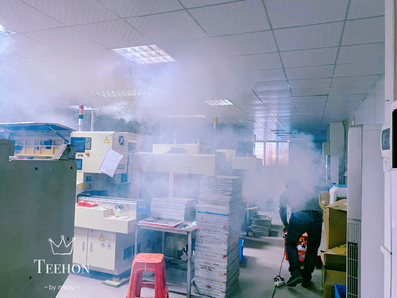 regular fumigation during the resting time in the PCB clean room