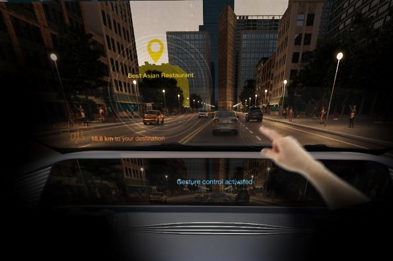 Osram OLED technology for gesture control during self driving